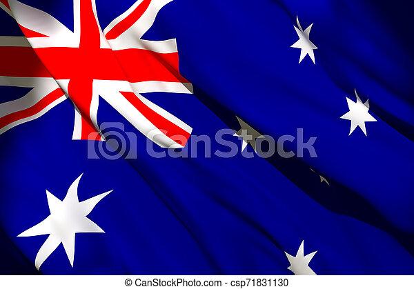 Australia flag waving - csp71831130