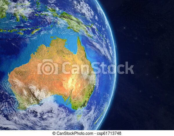 Map Of Australia From Space.Australia From Space