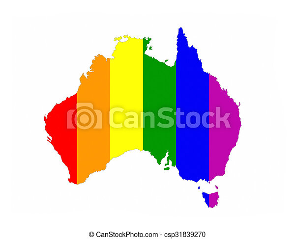 Australia Country Map.Australia Gay Map