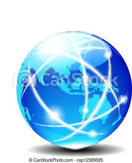 Asia y Australia, global - csp12589585