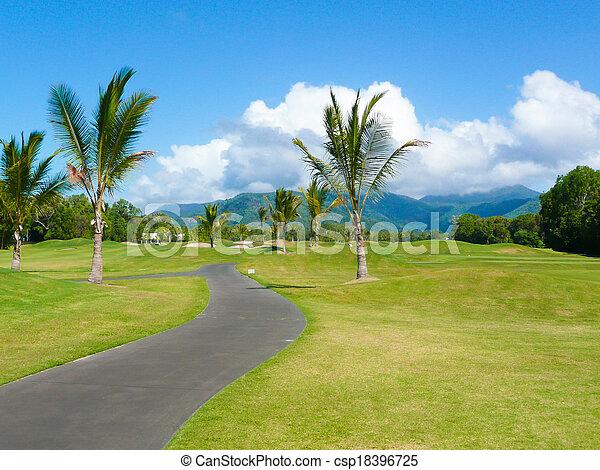 Campo de golf en Puerto Douglas Australia en un día soleado - csp18396725