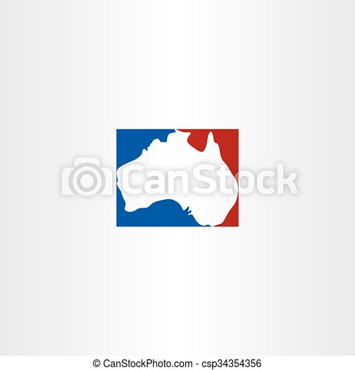 Map Of Australia Logo.Australia Logo Map Vector Icon