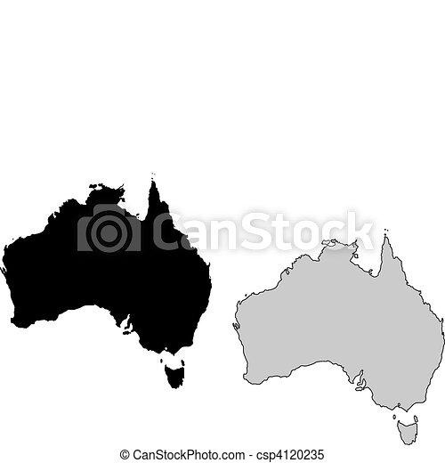 Australia map - csp4120235