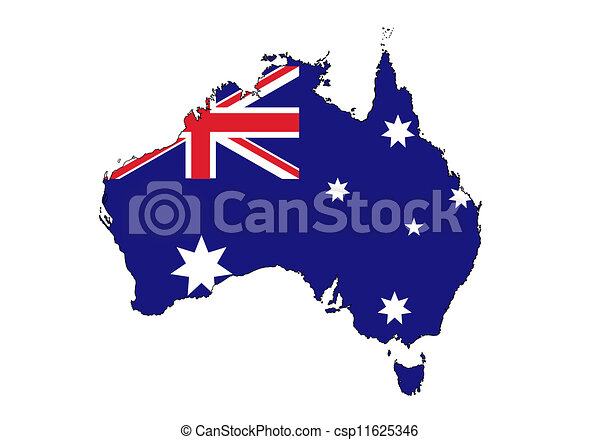 Australia map - csp11625346