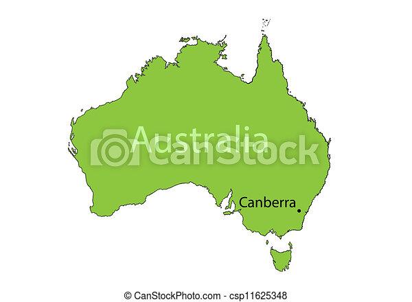 Australia map - csp11625348