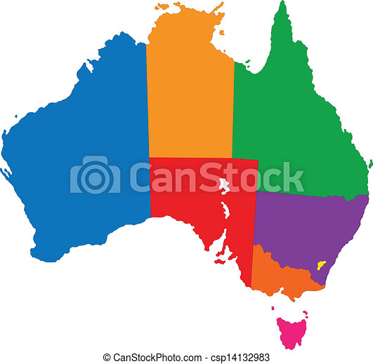 australia map map of administrative divisions of australia vector rh canstockphoto com australia clipart free australia clipart black and white