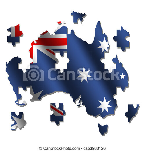 Australia Map Jigsaw.Australia Map Flag Jigsaw