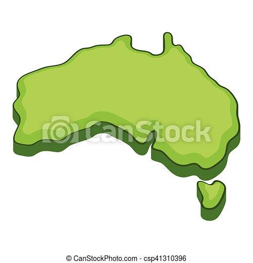 Australia Map Icon.Australia Map Icon Cartoon Style