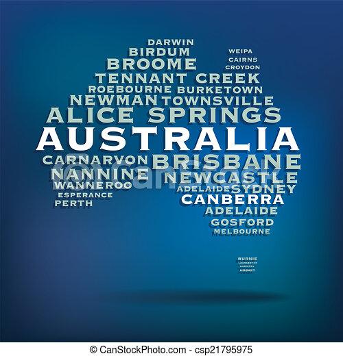Australia map - csp21795975