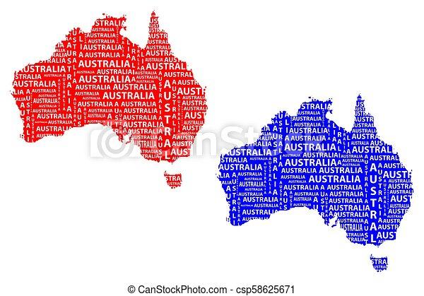 Australia Word Map.Australia Map