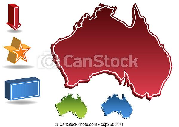 Australia map - csp2588471