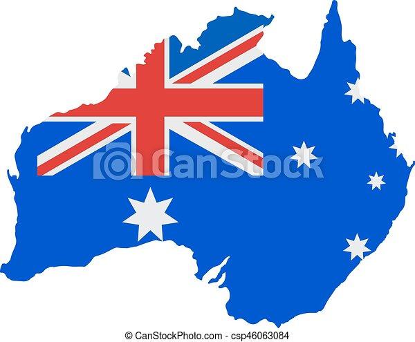australia map with flag map of australia in australian flag rh canstockphoto com australia clipart free australia clip art free