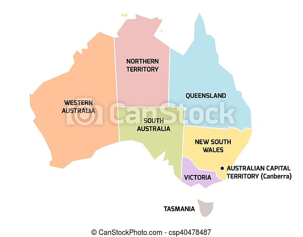 australia map with states and territories csp40478487