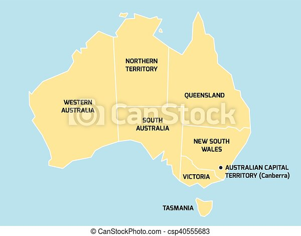 Australia Map States.Australia Map With States And Territories
