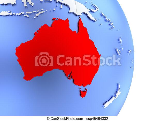 australia on elegant modern 3d globe csp45464332