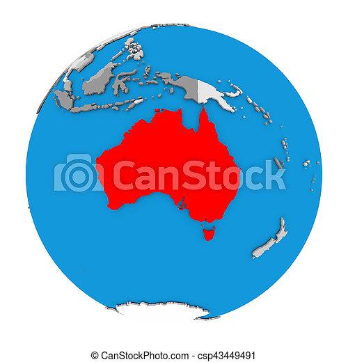 Australia Map Globe.Australia On Globe