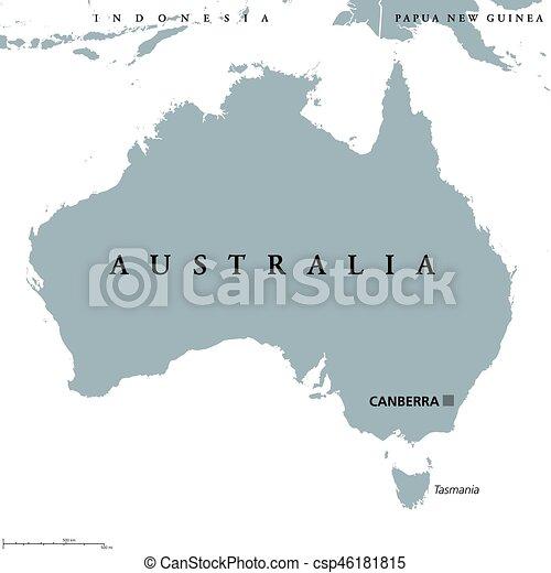 Australia Map Canberra.Australia Political Map