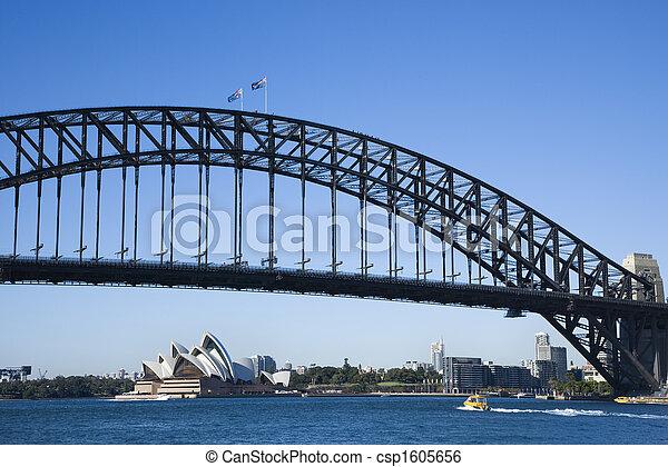 Puente, Sydney australia. - csp1605656