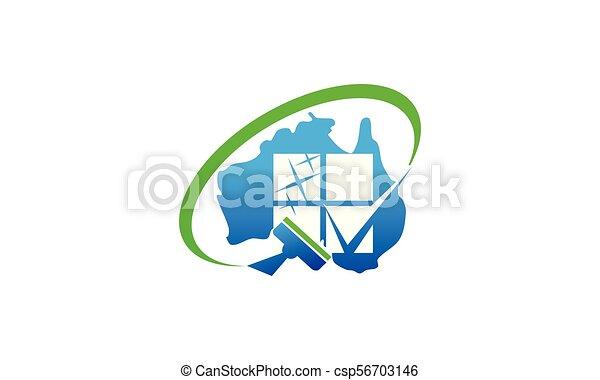 australia, pulizia, servizio - csp56703146