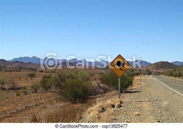 Australia, road sign - csp13825477
