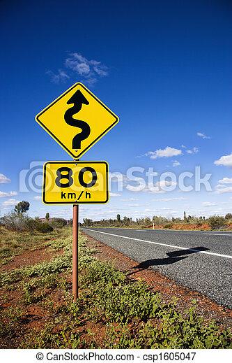 Australia road sign - csp1605047