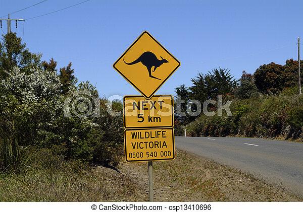 Australia, road sign - csp13410696