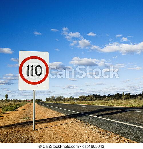 Australia speed limit sign - csp1605043