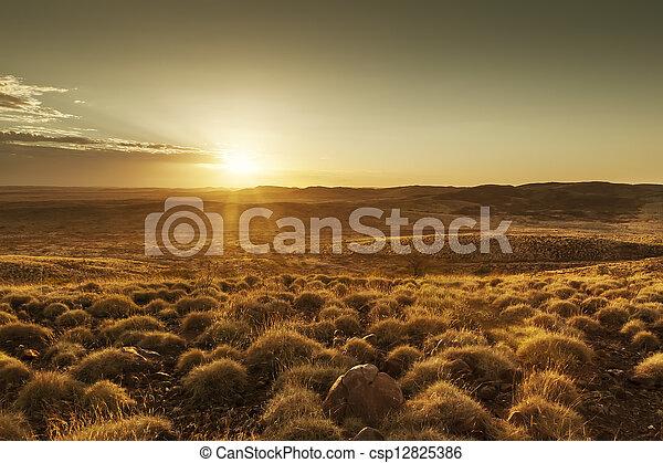 Australia sunset - csp12825386