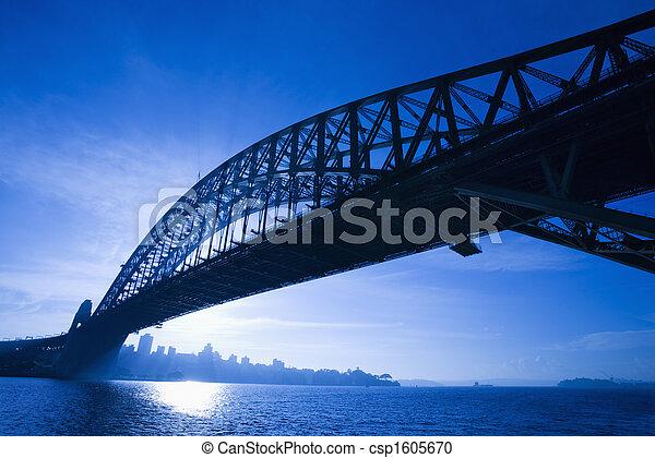 australia., sydney, brücke - csp1605670