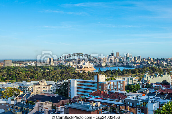 Vista de Sydney, Australia - csp24032456