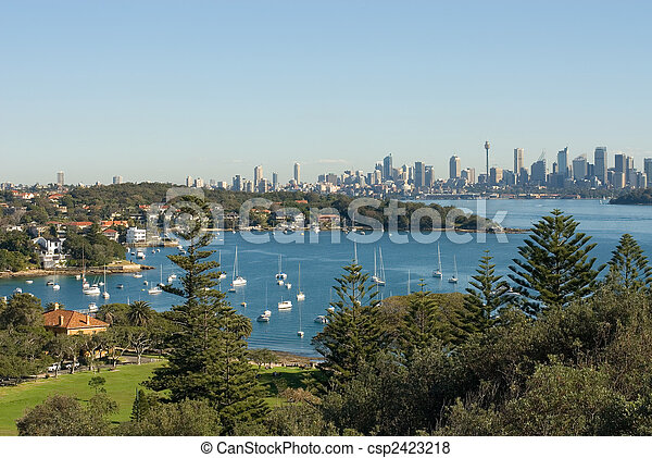 La bahía de Watson, Sydney, Australia - csp2423218