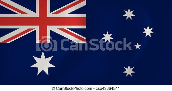 Australia waving flag - csp43864541