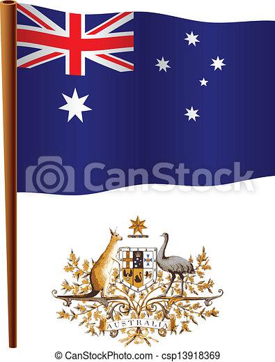 australia wavy flag - csp13918369