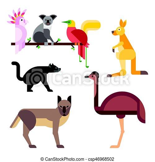 australia wild animals cartoon popular nature characters vector rh canstockphoto com australian clip art australia clipart free