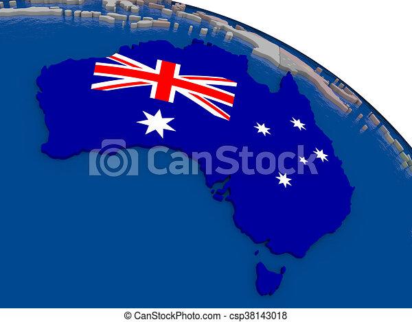 Australia with flag - csp38143018