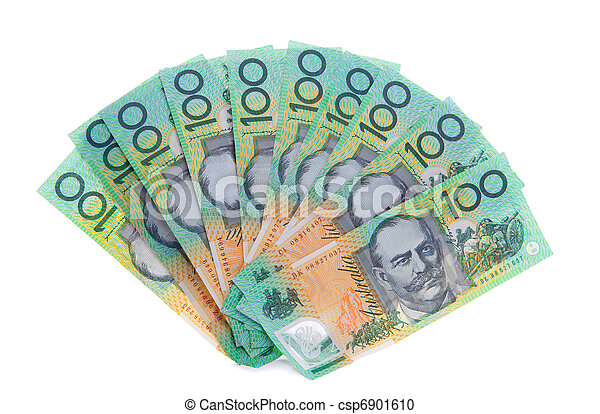 Australian 100 dollar note bills money - csp6901610