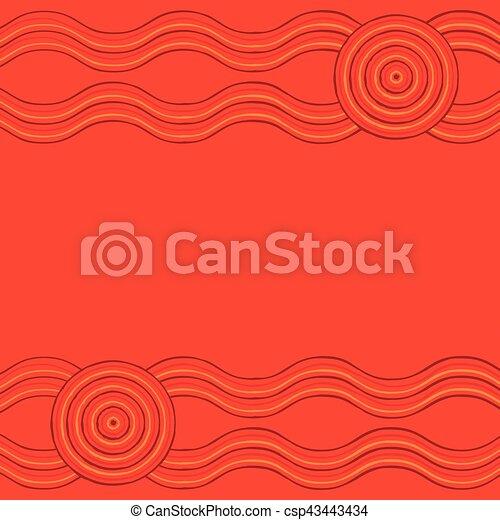 Australian Aboriginal art background in vector format. - csp43443434