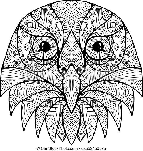 australian barking owl mandala csp52450575