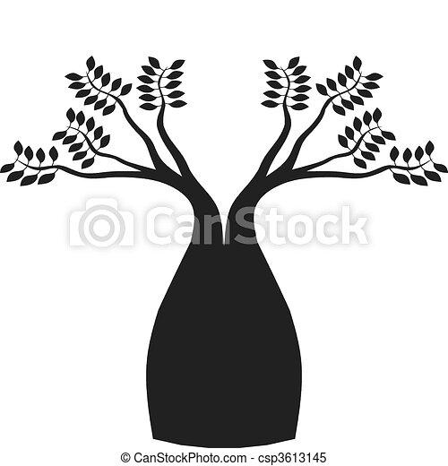 Australian boab tree - csp3613145