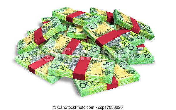 Australian Dollar Notes Scattered Pile - csp17853020