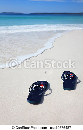 1bb789734b3 Australian flag thongs beach vacation celebration. Australian flag ...