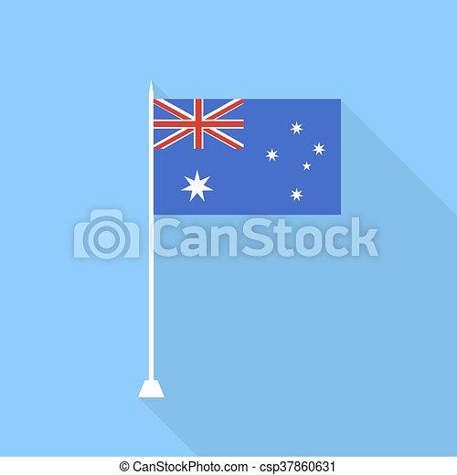 Australian flag. Vector illustration . - csp37860631