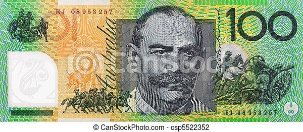 Australian One Hundred Dollar Note Csp5522352