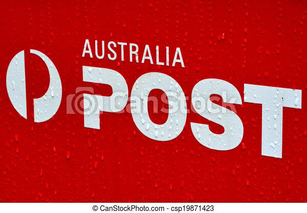Australian post office box sign and symbol - csp19871423