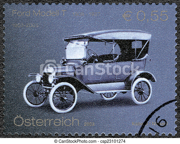 AUSTRIA - 2003: shows Ford Model T, Ford Motor Company century - csp23101274