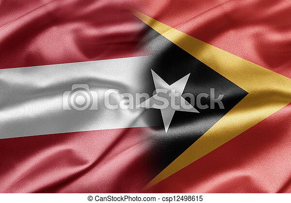 Austria and East Timor - csp12498615