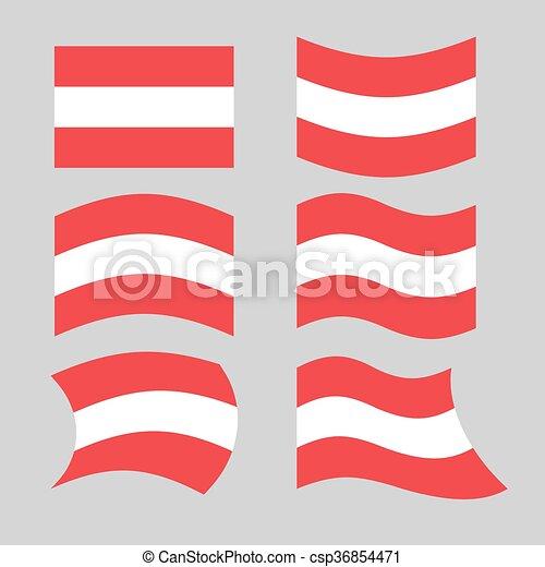 austria flag set of flags o austrian republic in various forms