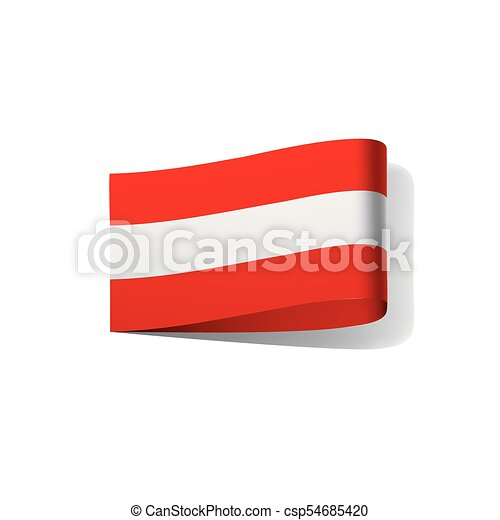 austria flag vector illustration on a white background