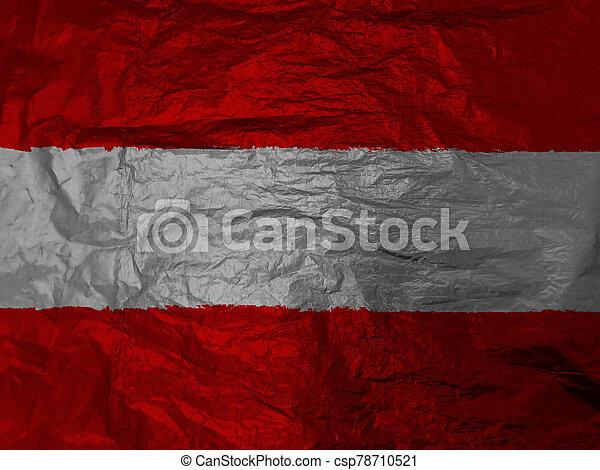 Austria flag with texture on background - csp78710521