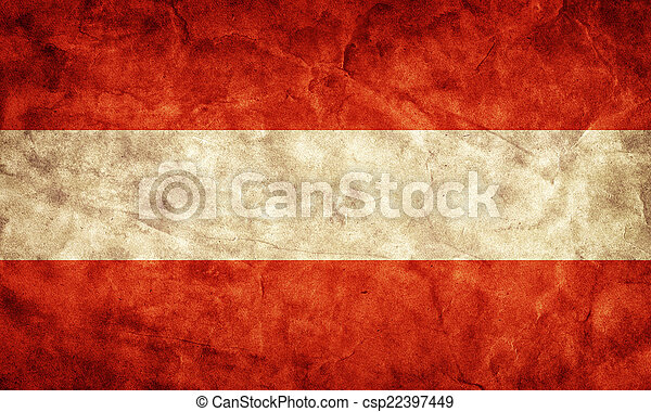 Austria grunge flag. Item from my vintage, retro flags collection - csp22397449